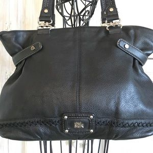 The Sak Black Leather Shoulder Bag